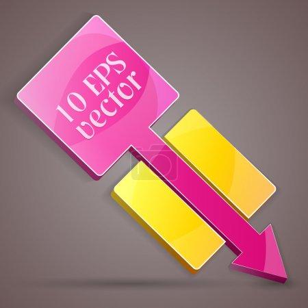 Illustration pour Bannière de flèche colorée. Illustration vectorielle . - image libre de droit
