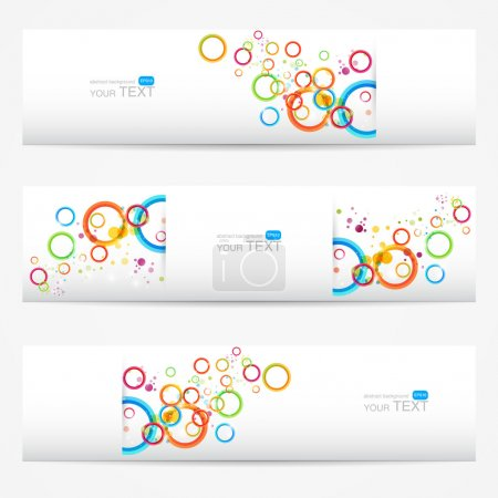 Illustration for Abstract vector cards,  vector illustration - Royalty Free Image