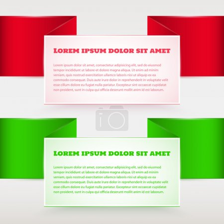 Illustration for Vector red and green banners. - Royalty Free Image