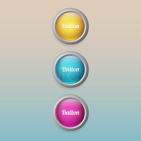 Illustration pour Boutons de couleur vectorielle, illustration vectorielle - image libre de droit