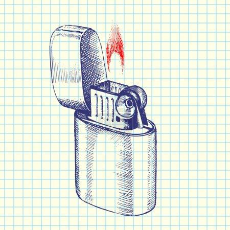 Illustration pour Illustration vectorielle de croquis plus léger - image libre de droit