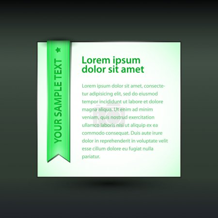 Illustration for Vector banner with green ribbon - Royalty Free Image