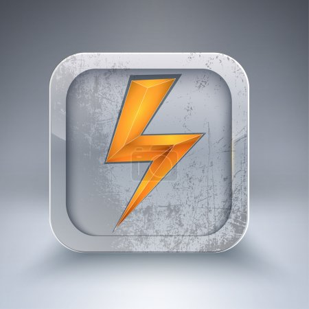 vector electricity 3d icon
