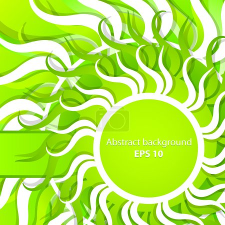 Illustration for Vector abstract spring background - Royalty Free Image
