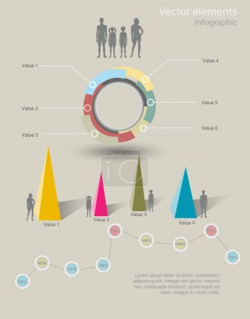 Infographic Vector Graphs and Elements.