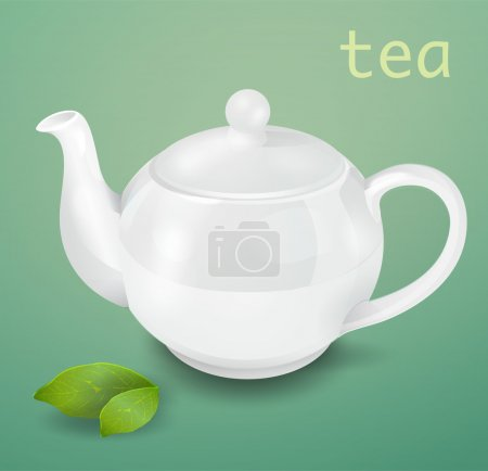 Vector white teapot vector illustration