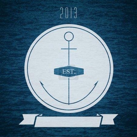 Vector logo with anchor