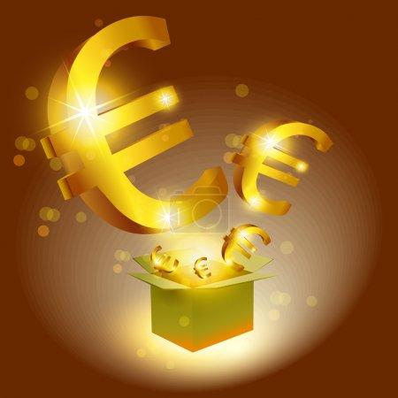 Illustration pour Euro signes avec boîte - image libre de droit