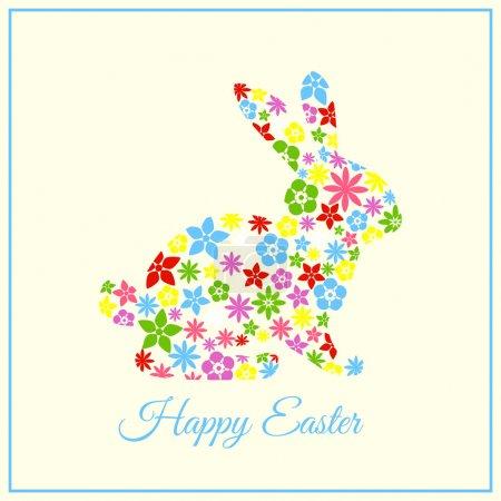 Illustration pour Bonne carte de Pâques - Lapin de Pâques - image libre de droit