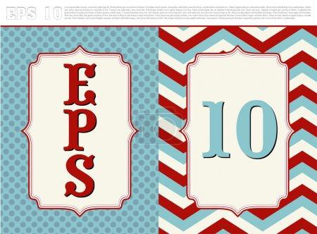 Illustration pour Cadre vintage texturé. Une grande affiche vintage pour votre publicité.Vecteur - image libre de droit