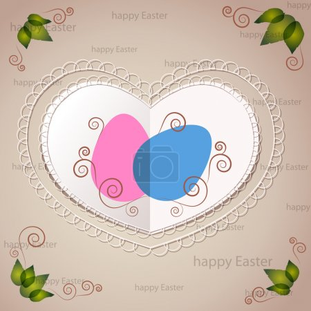 Photo for Easter greeting card, vector design - Royalty Free Image