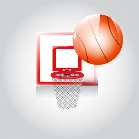 Vector Basketball Poster vector illustration