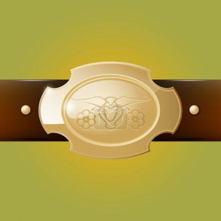 Vector cowboy belt buckle