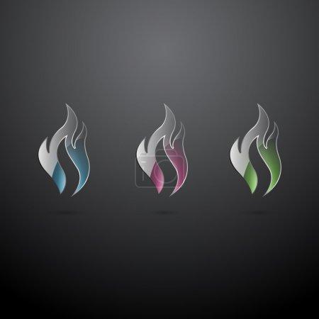 Illustration pour Icônes de feu vectorielles, illustration vectorielle - image libre de droit