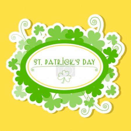 Illustration pour Carte de vœux Illustration vectorielle St Patrick Day - image libre de droit