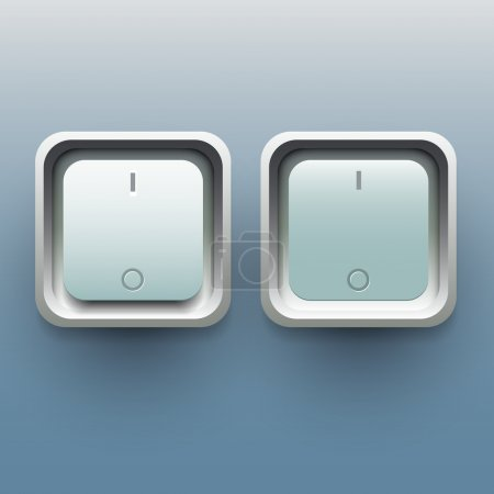 On and off button, vector