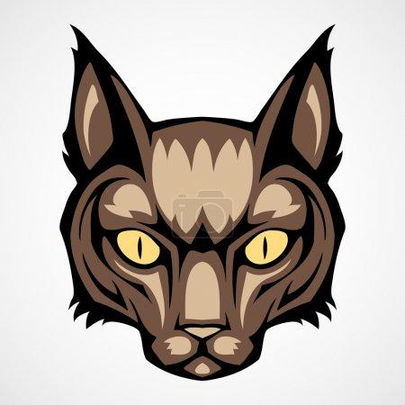 ilustración vectorial de una cabeza de gato