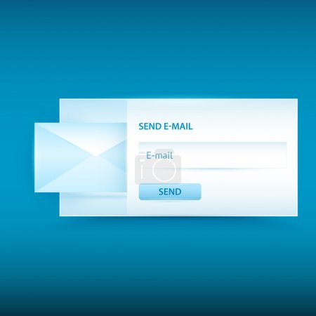 Vector email sending form