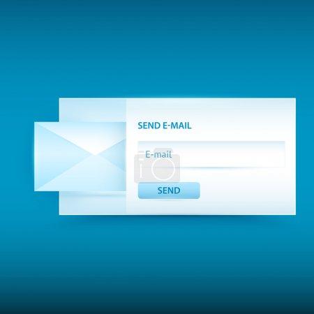 Formulaire d'envoi d'email vectoriel