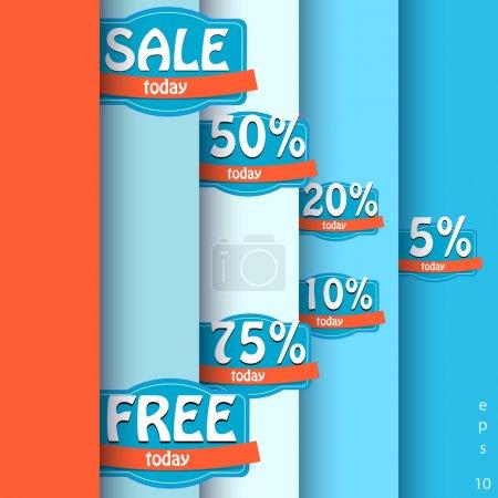 Illustration pour Ensemble d'étiquettes de vente vectorielles - image libre de droit