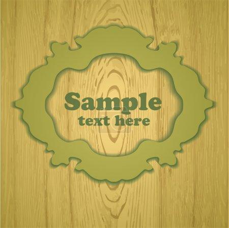 Vector marco vintage de madera