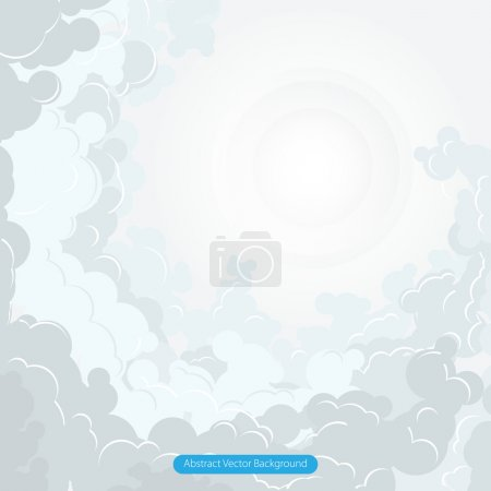 Abstract cloud vector illustration