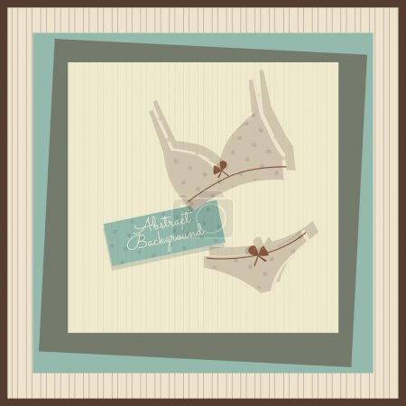 Illustration for Card with bikini, vector - Royalty Free Image