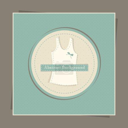Illustration pour Carte avec singulet femme, vecteur - image libre de droit