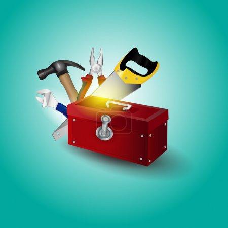 Vector toolbox vector illustration