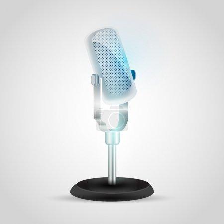 Vector Retro micrófono vector ilustración