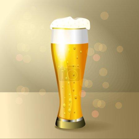 Illustration pour Verre d'illustration vectorielle bière - image libre de droit