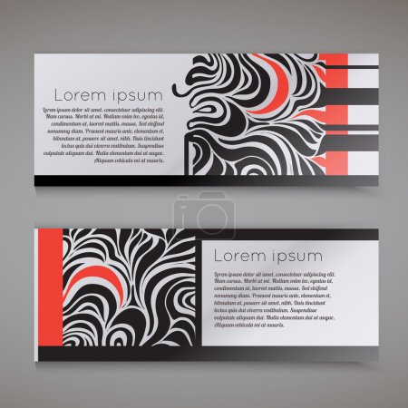 Illustration for Template for Business Card - Royalty Free Image