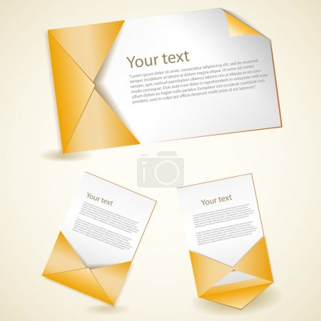 Illustration pour Ensemble d'enveloppes, illustration vectorielle - image libre de droit