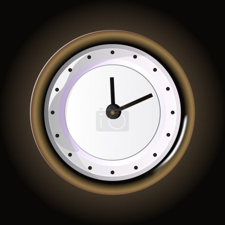 Illustration pour Horloge vectorielle, illustration vectorielle - image libre de droit