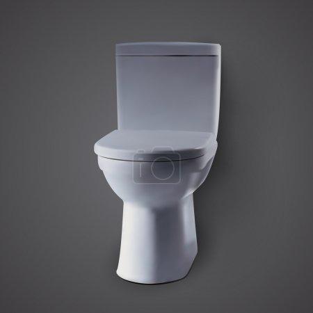 Vector illustration of Toilet (toilet bowl)