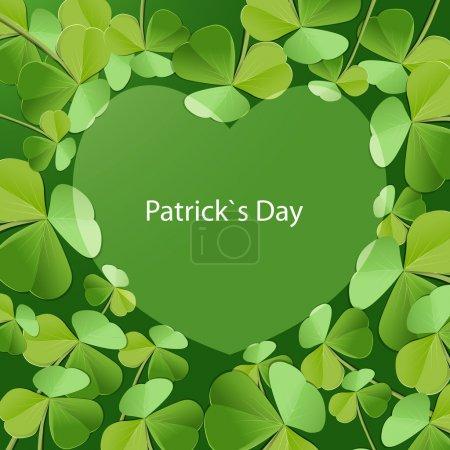 Illustration pour Carte de vœux de Saint Patrick - image libre de droit