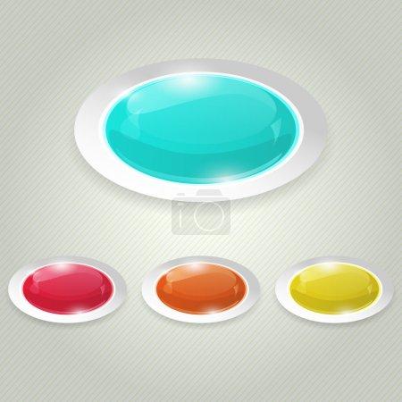 Illustration pour Illustration vectorielle vectorielle des boutons brillants - image libre de droit