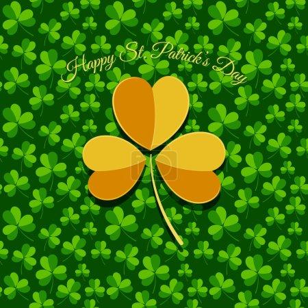 Illustration pour Carte de voeux Saint-Patrick - image libre de droit