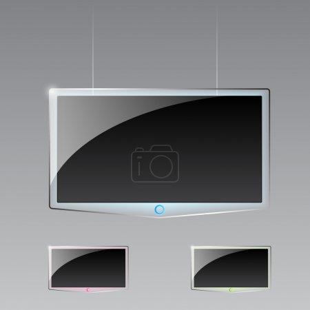 Modern TV led, 3d technology vector illustration.