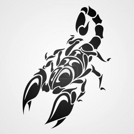 Tattoo scorpio, vector illustration