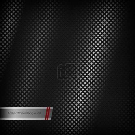 Illustration for Abstract metal background. Vector illustration. - Royalty Free Image