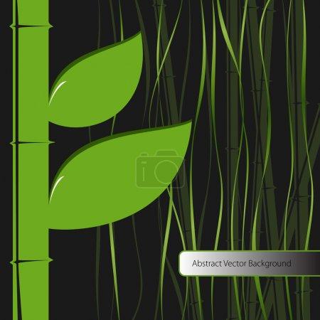 Illustration pour Feuilles vertes bambou. Illustration vectorielle . - image libre de droit