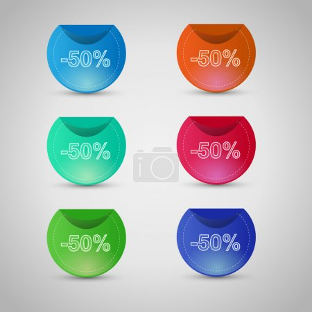 Illustration for Set of vector sale stickers and labels - Royalty Free Image