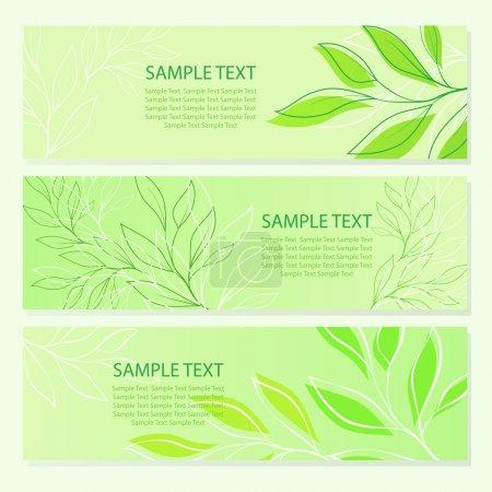Photo pour Arrière-plans de feuilles vert printemps. illustration vectorielle - image libre de droit
