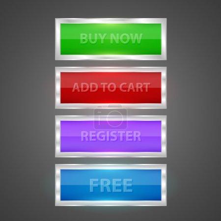 Illustration pour Icônes Shopping illustration vectorielle - image libre de droit