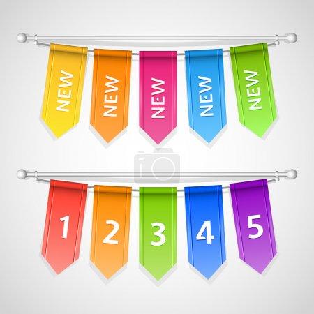 Illustration pour Étiquettes de vente vectorielles avec numéros - image libre de droit