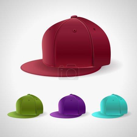 fashion Caps, vector illustration