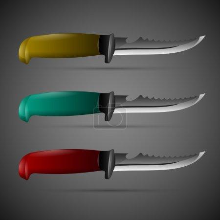 Illustration for Vector knives set,  vector illustration - Royalty Free Image