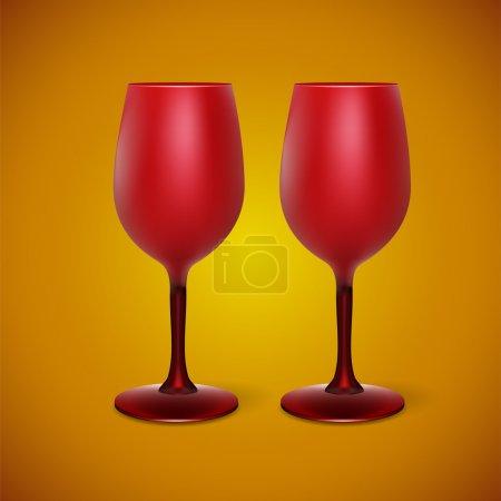 Illustration pour Illustration vectorielle avec verres à vin - image libre de droit