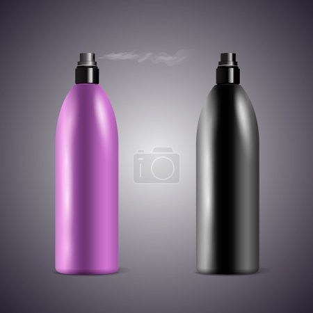 Transparent cosmetic containers, vector